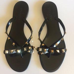 Valentino Shoes - Valentino Garavani Rockstud PVC Flip Flop Thong